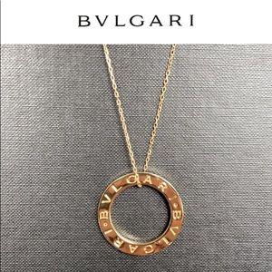 Bvlgari circle pendant repurposed necklace